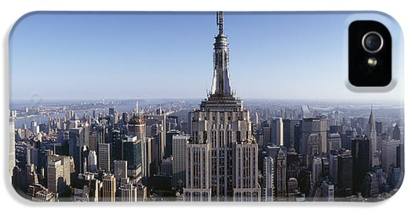 Aerial View Of A Cityscape, Empire IPhone 5 / 5s Case by Panoramic Images