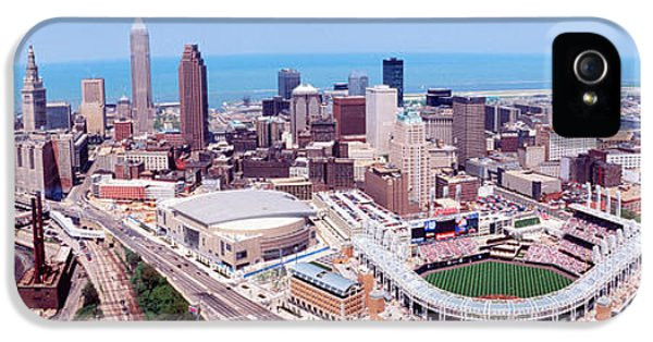 Aerial View Of Jacobs Field, Cleveland IPhone 5 / 5s Case by Panoramic Images