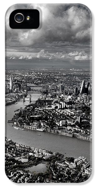 Aerial View Of London 4 IPhone 5 / 5s Case by Mark Rogan