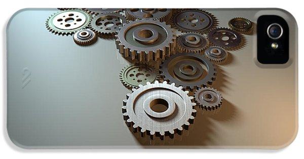 Cog iPhone 5 Cases - African Cogwheel Machine iPhone 5 Case by Allan Swart