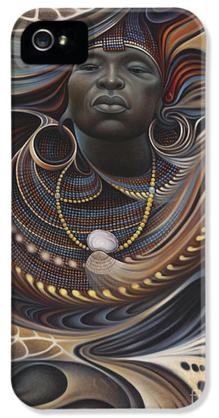 Swirls iPhone 5 Cases - African Spirits I iPhone 5 Case by Ricardo Chavez-Mendez