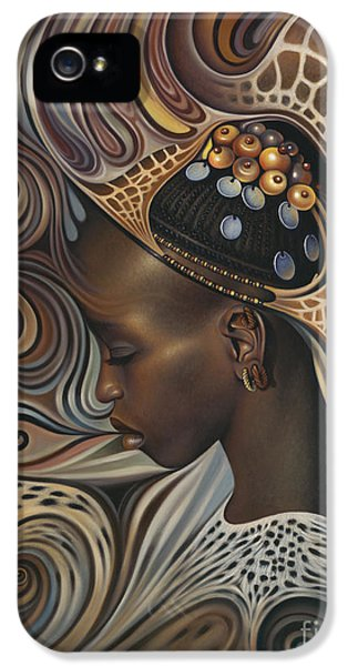 Earth iPhone 5 Cases - African Spirits II iPhone 5 Case by Ricardo Chavez-Mendez