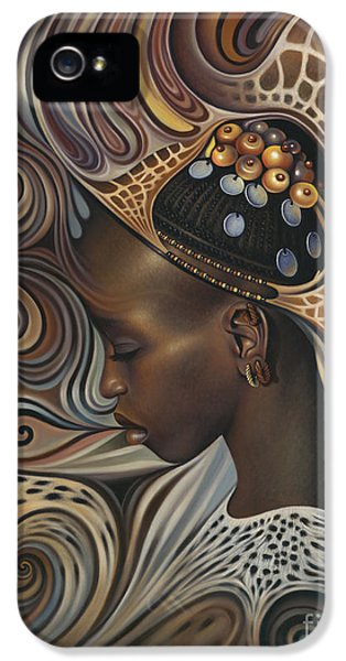 Brown iPhone 5 Cases - African Spirits II iPhone 5 Case by Ricardo Chavez-Mendez