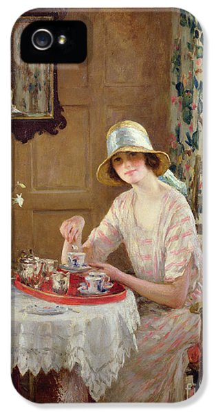 Charming iPhone 5 Cases - Afternoon Tea iPhone 5 Case by William Henry Margetson