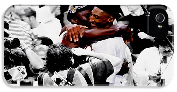 Pippen iPhone 5 Cases - Air Jordan and Scottie Pippen II iPhone 5 Case by Brian Reaves