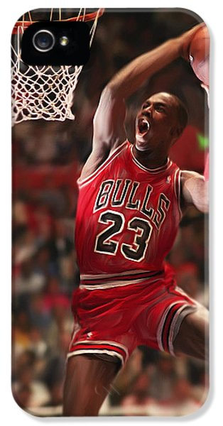 Pippen iPhone 5 Cases - Air Jordan iPhone 5 Case by Mark Spears