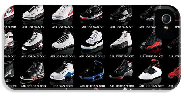 Mj iPhone 5 Cases - Air Jordan Shoe Gallery iPhone 5 Case by Brian Reaves