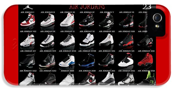 Nba iPhone 5 Cases - Air Jordan Shoe Gallery iPhone 5 Case by Brian Reaves