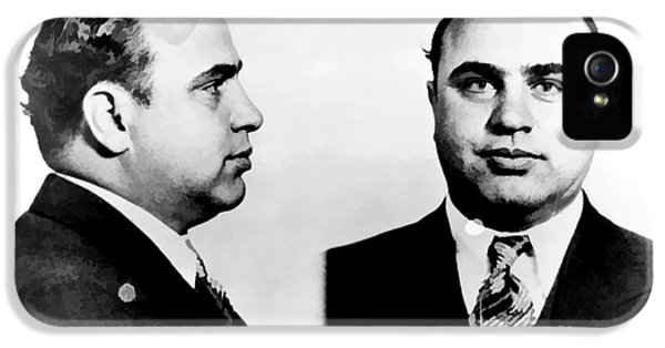 Suit iPhone 5 Cases - Al Capone Mug Shot iPhone 5 Case by Unknown
