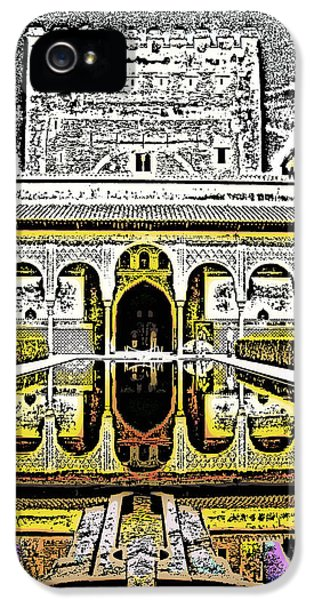 Andalusia iPhone 5 Cases - Al Hambra Palace iPhone 5 Case by Tom Gowanlock