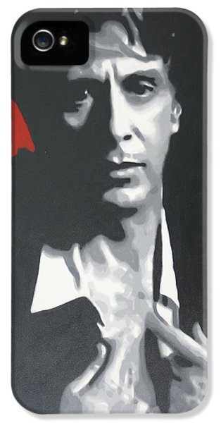 Oliver Stone iPhone 5 Cases - Al Pacino 2013 iPhone 5 Case by Luis Ludzska
