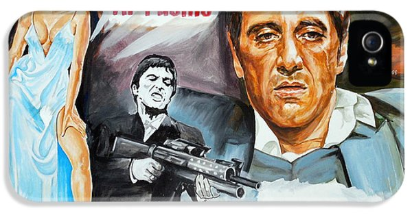 Brian De Palma iPhone 5 Cases - Al Pacino Scarface iPhone 5 Case by Spiros Soutsos