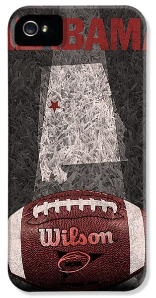 Alabama iPhone 5 Cases - Alabama Football Map Poster iPhone 5 Case by Design Turnpike