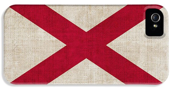 Alabama iPhone 5 Cases - Alabama State flag iPhone 5 Case by Pixel Chimp