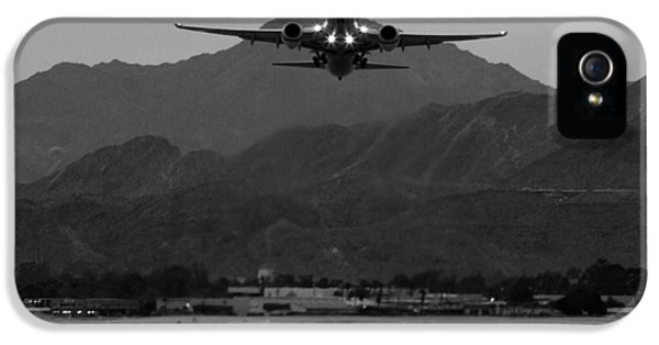 Alaska Airlines Palm Springs Takeoff IPhone 5 / 5s Case by John Daly