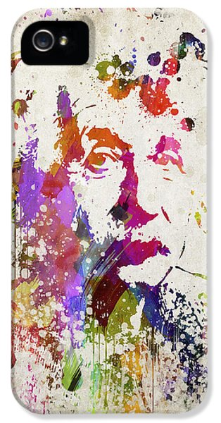 Physics iPhone 5 Cases - Albert in Color iPhone 5 Case by Aged Pixel