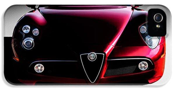 Alfa Romeo iPhone 5 Cases - Alfa Romeo 8C iPhone 5 Case by Douglas Pittman