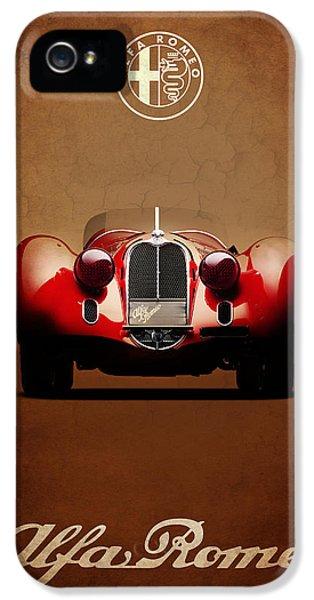 Alfa Romeo iPhone 5 Cases - Alfa Romeo 8C iPhone 5 Case by Mark Rogan