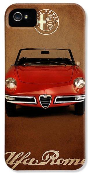 Alfa Romeo iPhone 5 Cases - Alfa Romeo Spider iPhone 5 Case by Mark Rogan