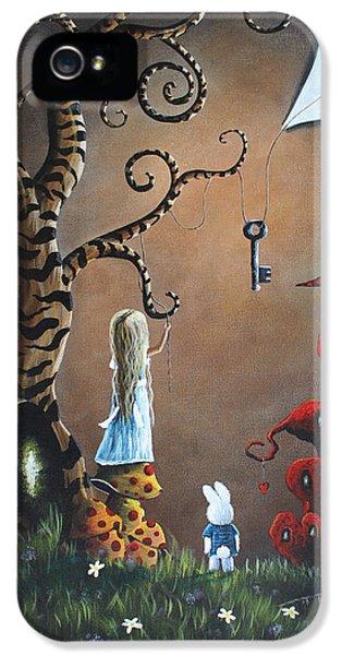 Dreamscape iPhone 5 Cases - Alice In Wonderland Original Artwork - Key To Wonderland iPhone 5 Case by Shawna Erback
