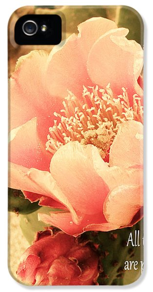 Prickly Rose iPhone 5 Cases - All Things are Possible with GOD iPhone 5 Case by Beverly Guilliams