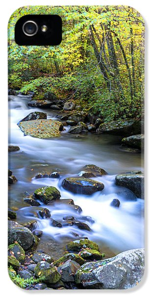 Scenic iPhone 5 Cases - Along the Oconaluftee River iPhone 5 Case by Andres Leon