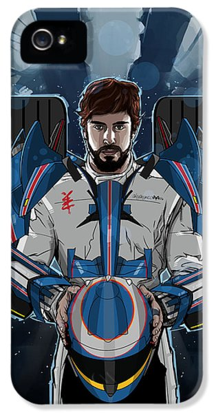 Formula One World Champion iPhone 5 Cases - Alonso Mechformer Racing Driver iPhone 5 Case by Akyanyme
