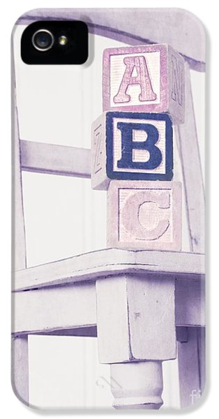 Chair iPhone 5 Cases - Alphabet Blocks Chair iPhone 5 Case by Edward Fielding
