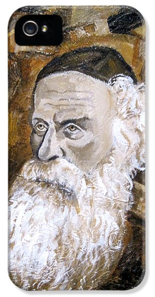Judaica iPhone 5 Cases - Alter Rebbe iPhone 5 Case by Leon Zernitsky