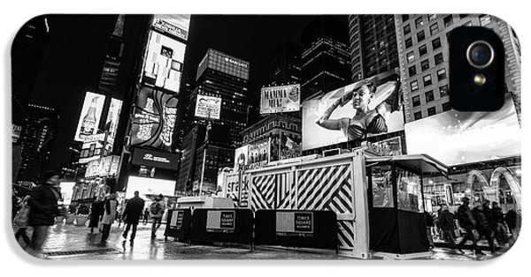 Times Square iPhone 5 Cases - Alternate view of Times Square  iPhone 5 Case by John Farnan