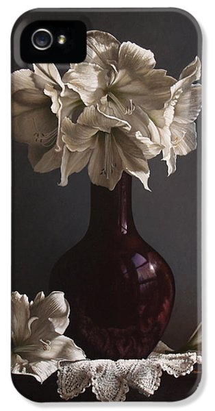 Realism iPhone 5 Cases - Amaryllis  iPhone 5 Case by Larry Preston