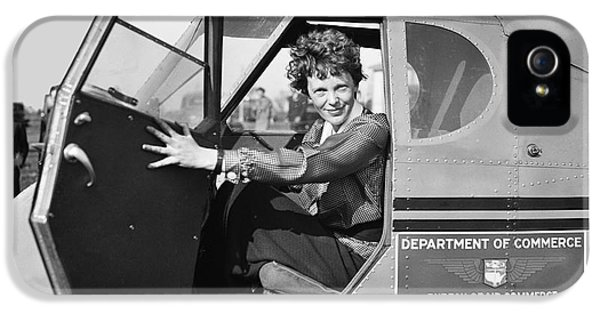 Amelia Earhart - 1936 IPhone 5 / 5s Case by Daniel Hagerman