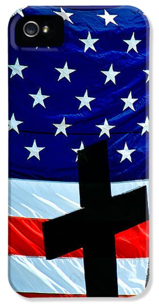 Vietnam War iPhone 5 Cases - American Flag At Rest iPhone 5 Case by Bob Orsillo