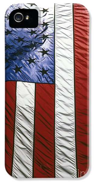 4th Of July iPhone 5 Cases - American flag iPhone 5 Case by Tony Cordoza