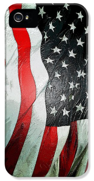 Stars And Strips iPhone 5 Cases - American Flag vertical iPhone 5 Case by David Lee Thompson
