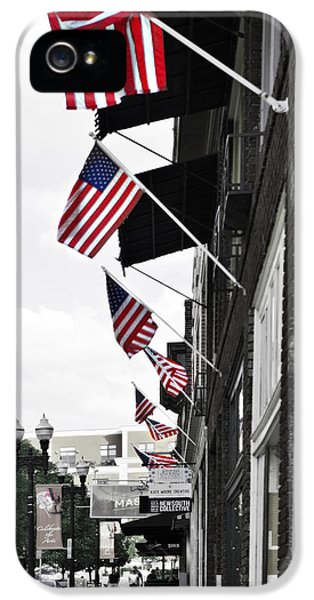 Stars And Strips iPhone 5 Cases - American Flags iPhone 5 Case by Sharon Popek