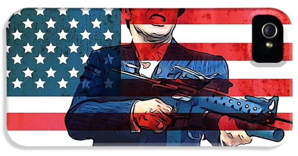 Tony Montana iPhone 5 Cases - American Gangster Tony Montana iPhone 5 Case by Dan Sproul