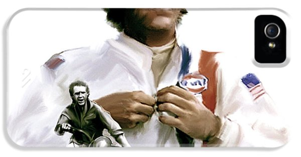 Main Street iPhone 5 Cases - American Icon IV  Steve McQueen iPhone 5 Case by Iconic Images Art Gallery David Pucciarelli