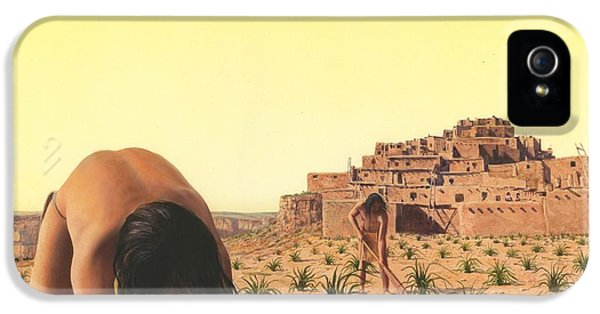 Pueblo iPhone 5 Cases - American Indian Desert Dwellers iPhone 5 Case by Rob Wood