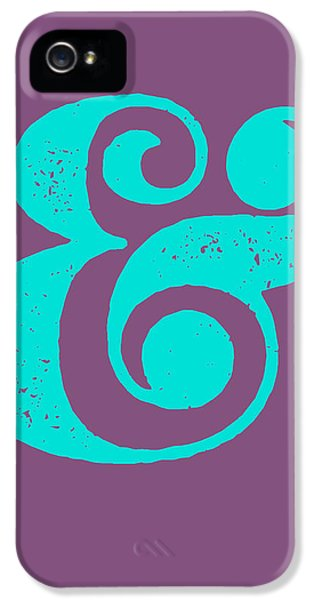 Ampersand Poster Purple And Blue IPhone 5 / 5s Case by Naxart Studio