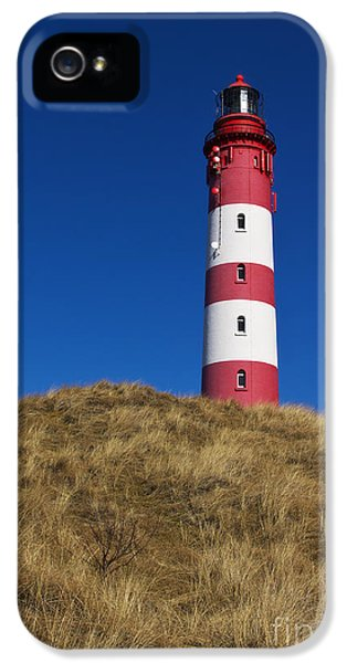 Lighthouse iPhone 5 Cases - Amrum Lighthouse iPhone 5 Case by Angela Doelling AD DESIGN Photo and PhotoArt