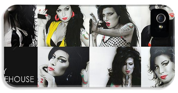 Amy Winehouse - 'amy Eternal' IPhone 5 / 5s Case by Christian Chapman Art