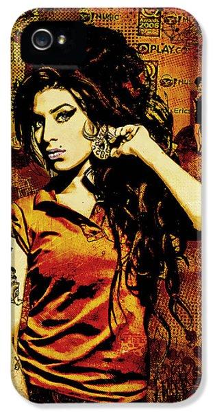 Unique iPhone 5 Cases - Amy Winehouse 24x36 MM Reg iPhone 5 Case by Dancin Artworks