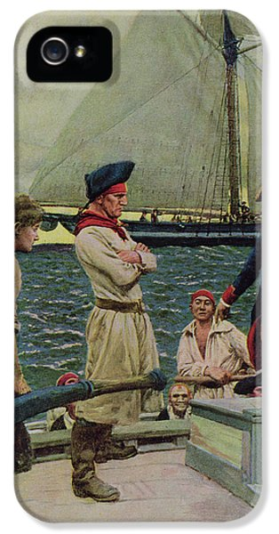 American Revolution iPhone 5 Cases - An American Privateer Taking A British Prize, Illustration From Pennsylvanias Defiance iPhone 5 Case by Howard Pyle