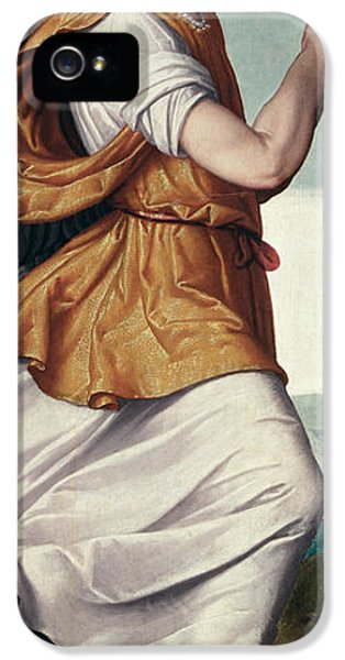 Aves iPhone 5 Cases - An Angel Panel iPhone 5 Case by Giovanni Battista Moroni