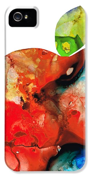 Apple iPhone 5 Cases - An Apple A Day - Colorful Fruit Art By Sharon Cummings  iPhone 5 Case by Sharon Cummings