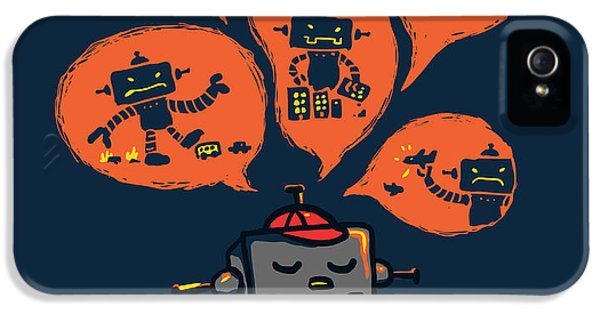 Robot iPhone 5 Cases - An Evil Robot Dream iPhone 5 Case by Budi Satria Kwan