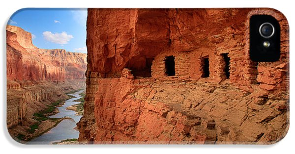 Desolate iPhone 5 Cases - Anasazi Granaries iPhone 5 Case by Inge Johnsson