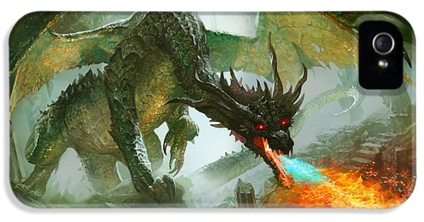 Fantasy iPhone 5 Cases - Ancient Dragon iPhone 5 Case by Ryan Barger