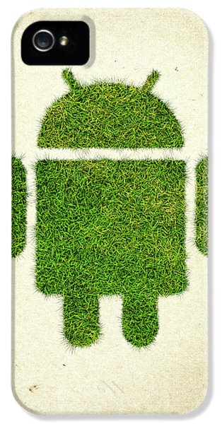 Eco iPhone 5 Cases - Andoird Grass Logo iPhone 5 Case by Aged Pixel